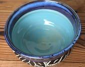 Carved Leaf Fruit Bowl
