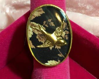 Autumn Swallow Handmade Resin Dress Ring