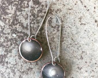 Cosmic Enameled Copper Earrings