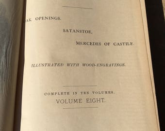1892 Cooper's Works Vol. 8 by Fenimore Cooper