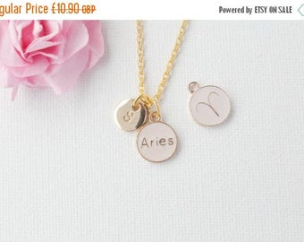 VACATION SALE Aries zodiac necklace, aries pendant, gift for aries, aries jewelry, Aries necklace, star sign necklace,star sign necklace, /