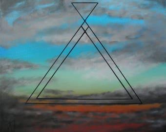 Triangle Sky / Acylic paint