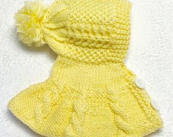 Yellow Crocheted Baby Ponchos