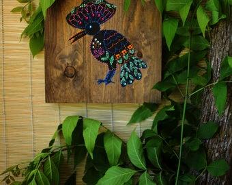 Rustic wooden wall art
