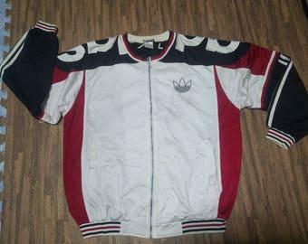 Vintage Adidas Track Jacket bomber Trefoil Men's 80s Sz large