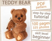 Teddy Bear PATTERN & Tutorial Staicy - Instant download PDF, sewing pattern, detailed instructions, step-by-step tutorial