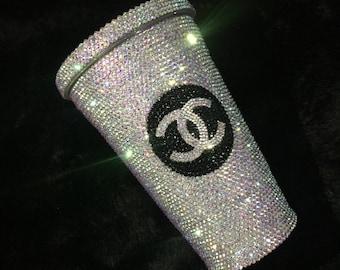 Chanel mug\cup  Swarovski Crystal Starbucks Cold hot Cup/Mug customized cup