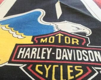 Harley Davidson , motor cycles , vintage bandana 90s . Original official .