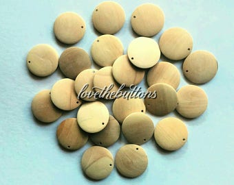 30mm Wooden Pendant Unfinished Wood, Natural Color Wood Pendant, Circle Pendant, Pendant For Jewelry, Craft supplies.