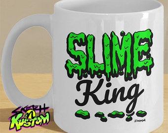 Slime gifts, cheap slime mug, slime king mug, fluffy green slime, slime gift, king of slimes / slime lover mug
