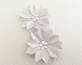 6 Wedding Paper Flower V Cardstock Flower Backdrop Flower Flower Decor Wedding Flowers Paper Decoration Party Decorations Party Supplies