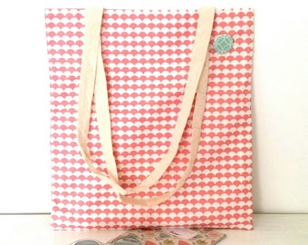 Tote bag pattern Scandinavian decor badges, tote bag my little stationery creation