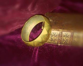 Lady Nile Antiqued Gold Bangle
