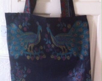 African print large tote beach bag