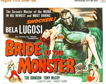 Back to School Sale: Bride of the Monster (1955) Movie Poster Bela Lugosi