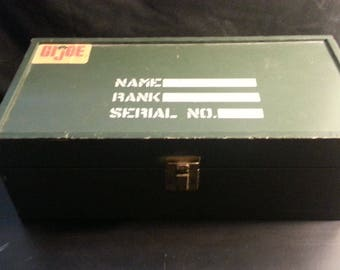 1960's Vintage GI JOE Accessories Foot Locker with all sorts of items!