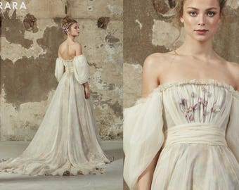 Wedding dress EVA fairy wedding dress vintage style wedding