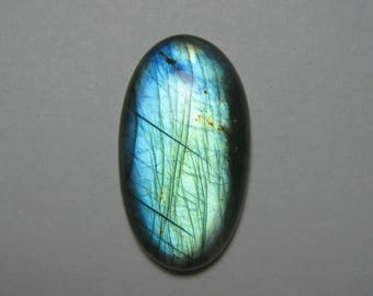 Natural labradorite Oval shape loose semi precious gemstone cabochon size 22 x 40 mm approx ET 343 wholesale gemstone