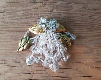 Vintage Glass Bead Brooch