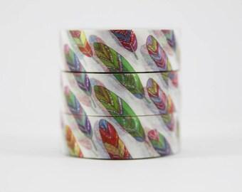 Washi tape colorful Feathers masking tape