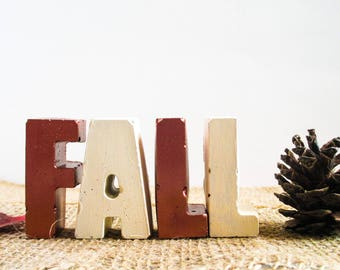 Fall letters - Fall decor - Cement letters - Letters decor - Fall decorations - Concrete letters - Cement decor - Home fall decor