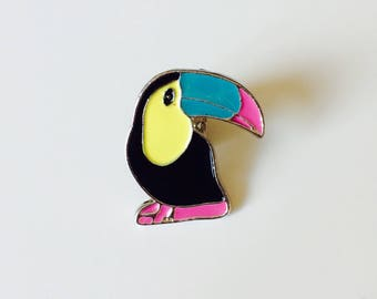 Sale | Toucan | Bird | Tropical | Pin | Badge | Retro | Hipster | Upcycle | Accesory | Modify