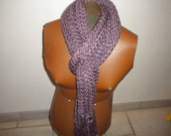 scarf collar in old pink wool