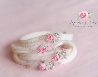 Newborn Headband Rose
