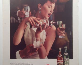 "Vermouth ""Martini"" Vintage Ad (1959)"