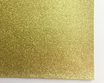 Yellow Gold Fine Glitter Fabric Sheet