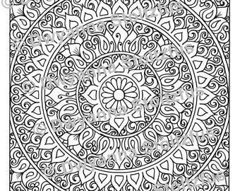 Stress Relieving Patterns Package G - 5 Coloring Pages JPG