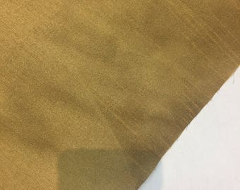 Tan Shantung Faux Silk Polyester Drapery Fabric  by the yard 40 colors