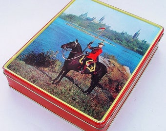 Vintage 50s/60s Canadian Mountie Tin RCMP Blue Bird Confectionery England