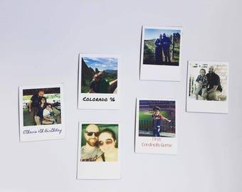 Refrigerator Magnets | Polaroid Magnets - Photo Magnets - Customized Magnets - Personalized Magnets - Instagram Magnets - Fridge Decor