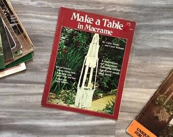 Make a Table in Macrame | vintage macrame magazine, vintage magazine, boho decor, macrame, macrame instructions, wall hanging, macrame art