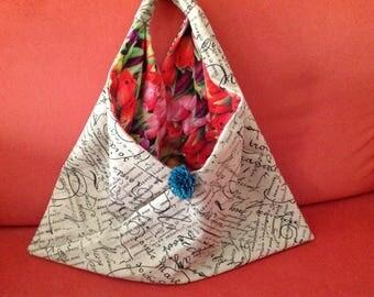 shopper origami in raw cotton