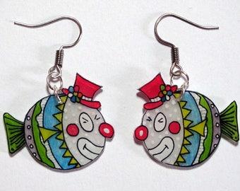 the little clown fish earrings