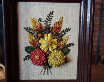 Pinecone Folk Art Collage