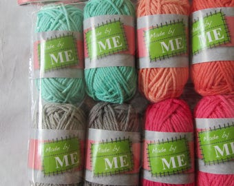 Set of 8 eight different colors cotton thread