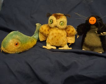 Steiff stuffed Animals lot of 3