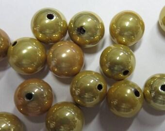 12 mm gold plastic bead