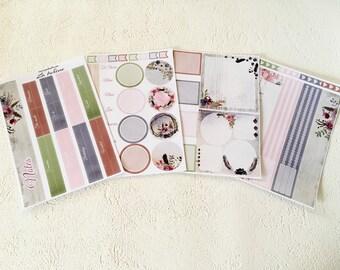 La Bohème - April - Note page planner stickers - 4pages - Erin Condren - Plum Paper - Kikki K - Paperchase - Filofax