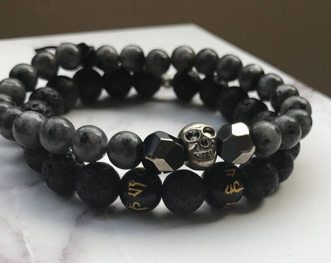 Featured listing image: The Gray Night Men's Bracelets  (Men Collection)