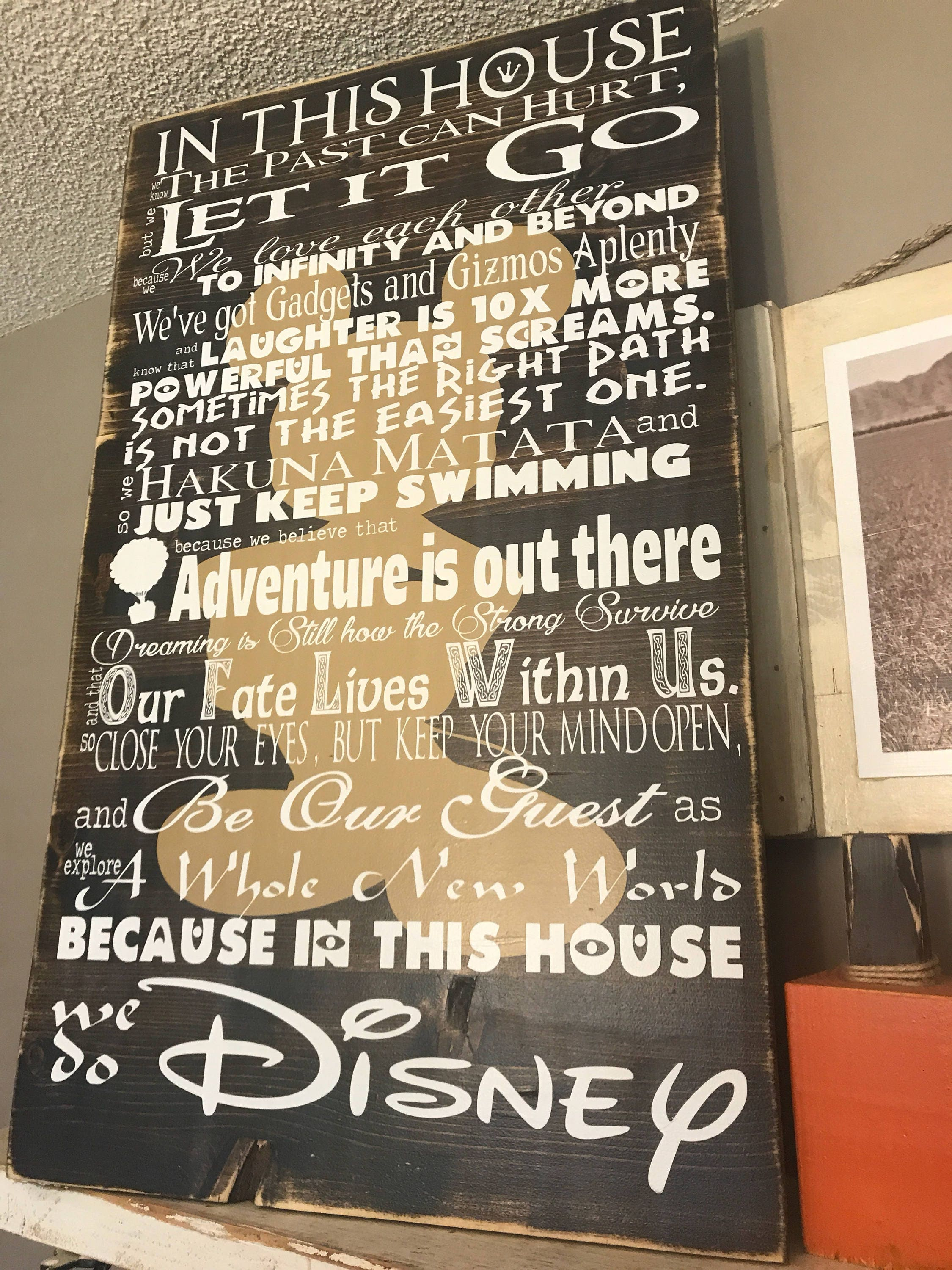 Disney Quotes Wedding Anniversary In This House Disney Family Rules ...