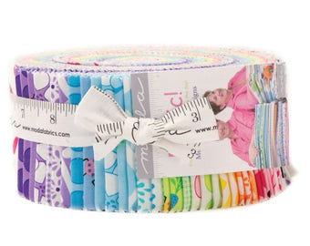 """Moda FROLIC Jelly Roll 22310JR 40 2.5"""" Quilt Fabric Strips By Me & My Sister Designs"""