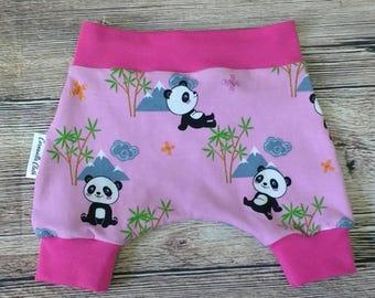 Harem Shorts, Baby Clothing, Panda, Shorts, kids clothing, Newborn.