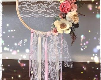 Boho lace dreamcatcher , room decor , party decor , baby shower decor