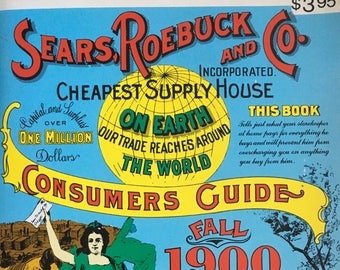 Sears Roebuck miniature reproduction of the 1900 catalog,1970 paperback