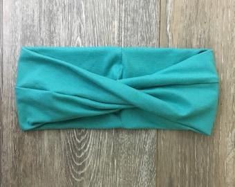 Jade Twisted Turban, jade turban, turban, jade, jade headband, twisted headband, baby shower gift