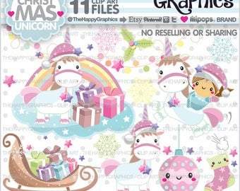 80%OFF - Christmas Clipart, Christmas Graphics, Unicorn Clipart, Unicorn Graphics, Commercial Use, Unicorn Party, Magical, Unicorn Clip Art
